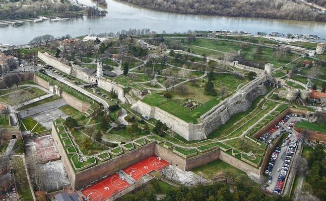 vista aerea de la fortaleza kalemegdan