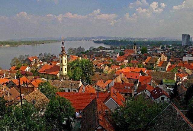 vista aerea del distrito zemun