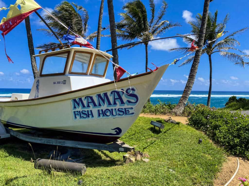 Cena en la playa Maui Mama's Fish House